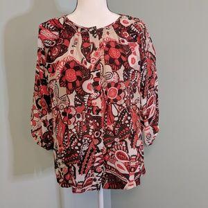 Banana Republic 100% silk long sleeve blouse XS